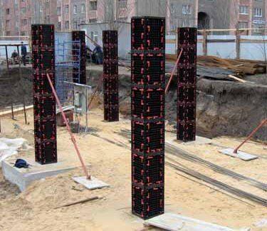 пластиквая опалубка колонн